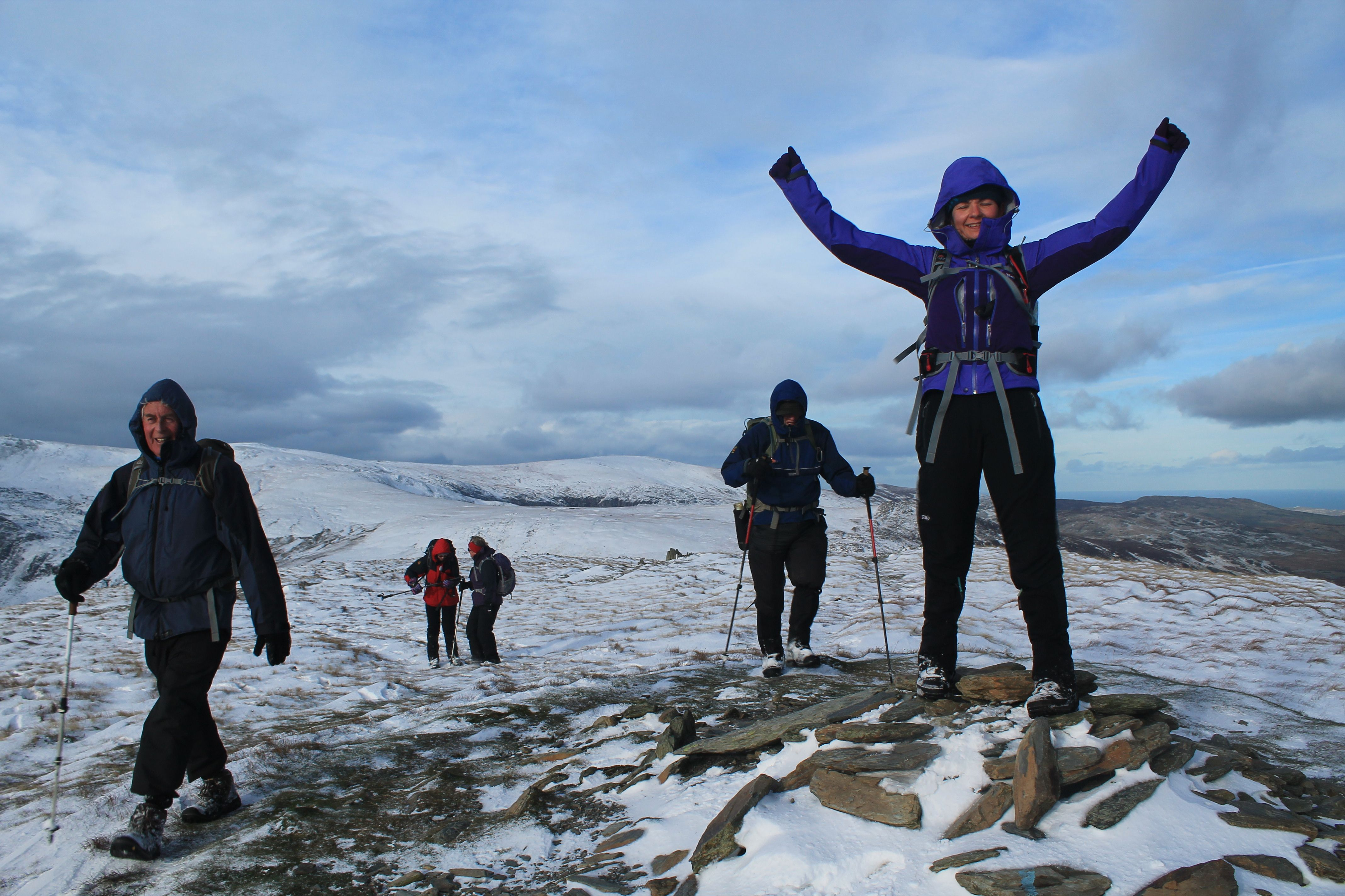 Claire on Pen Llithrig y Wrach
