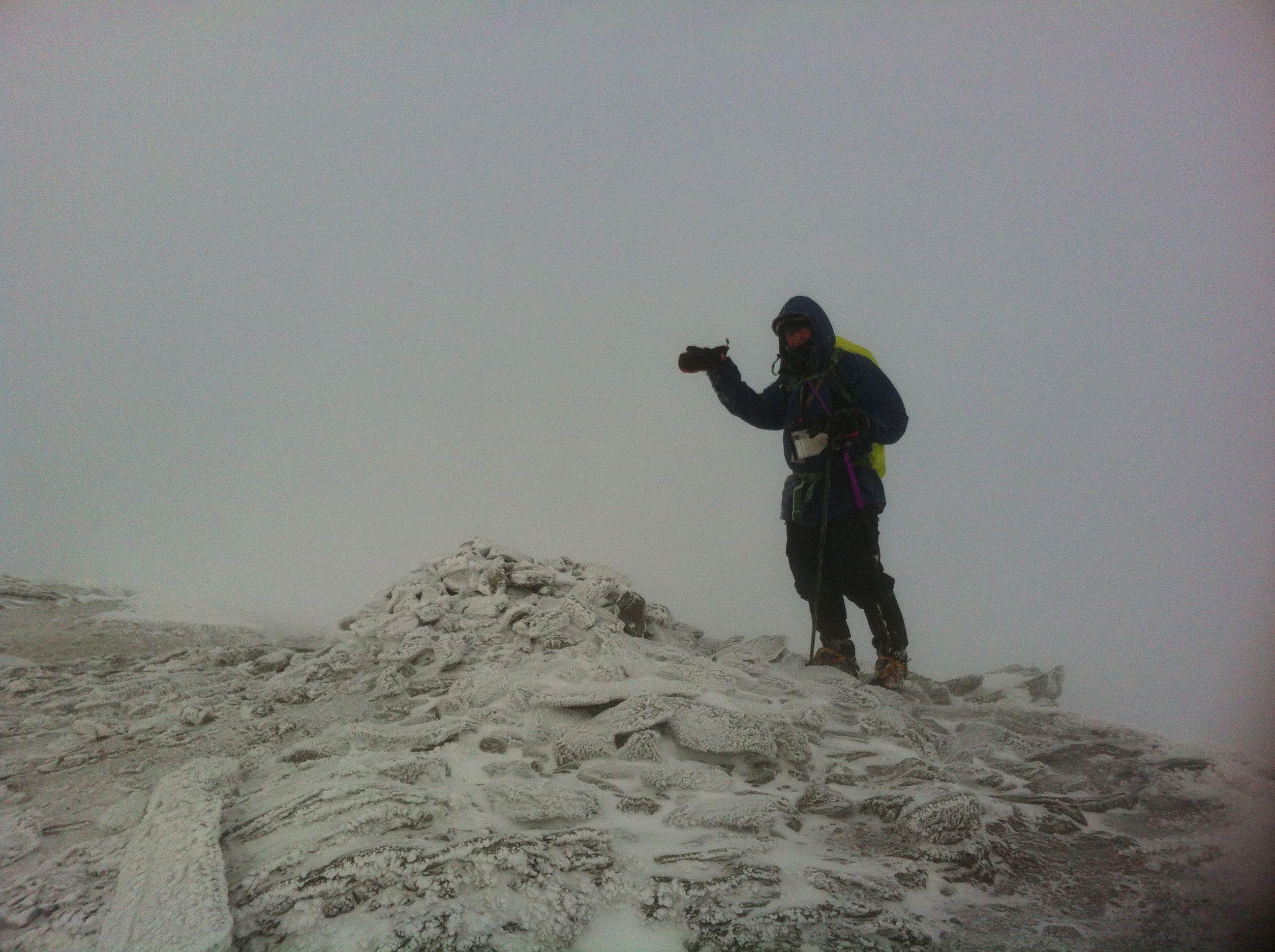 Me on the summit of Stob Binnein