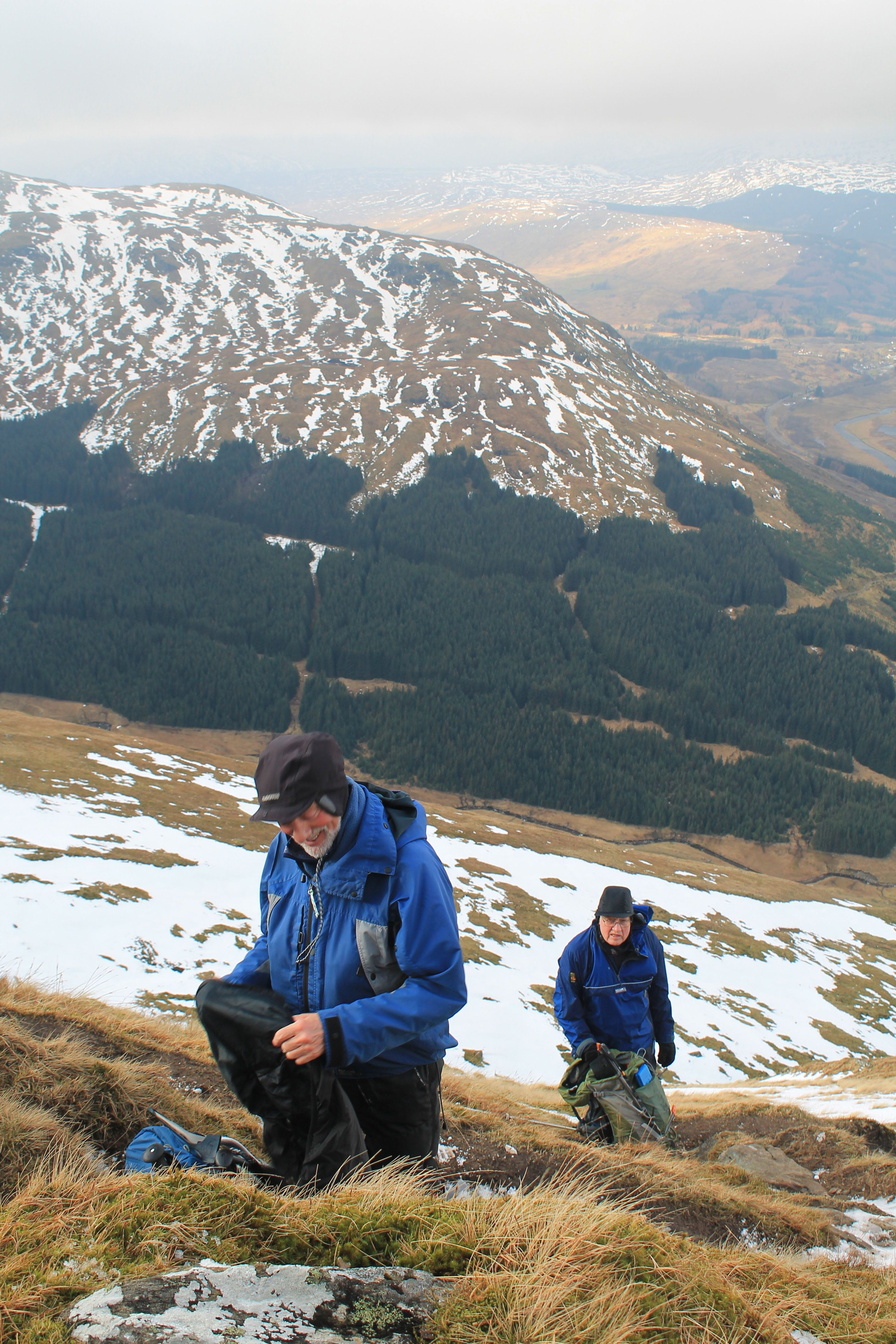 Alan D and Mick G on the lower slopes of Ben More