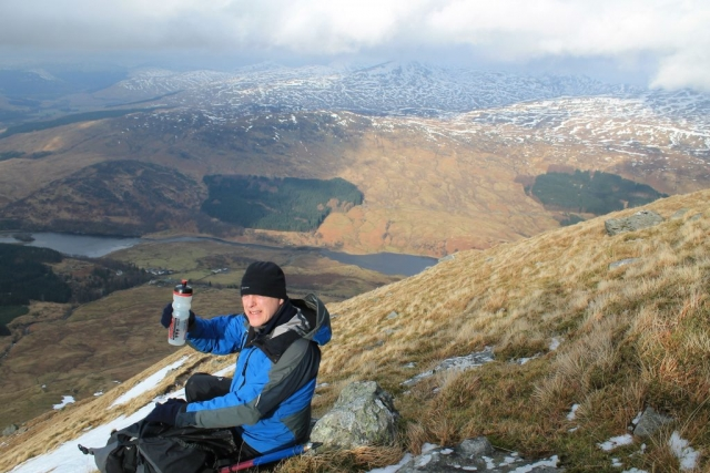 Simon W on the lower slopes of Ben More