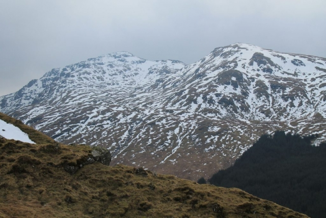Cruach Ardrain and Stob Garbh from the lower slopes of Ben More