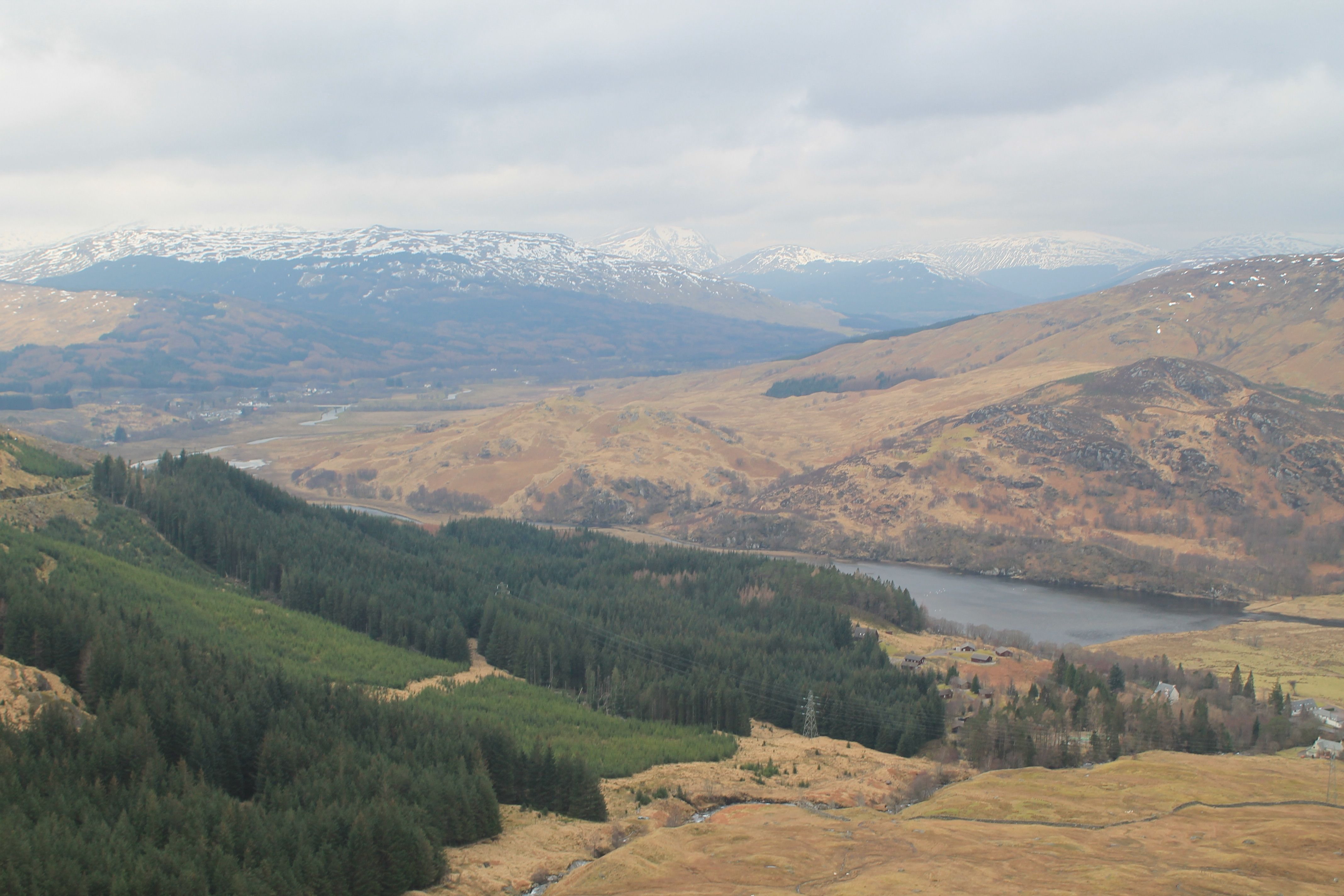 Loch Dochart from the lower slopes of Ben More