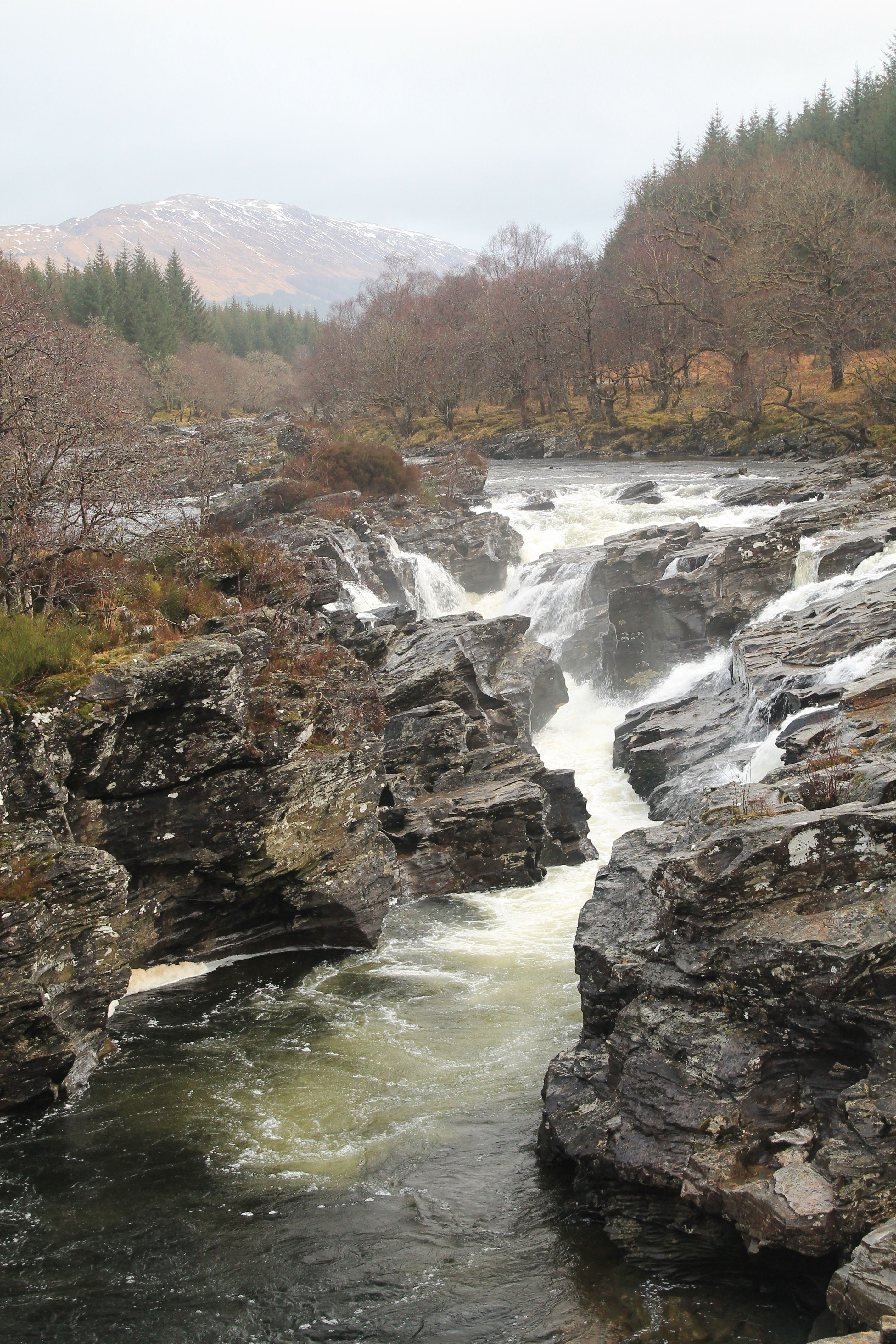 Eas Urchaidh Waterfall on The River Orchy