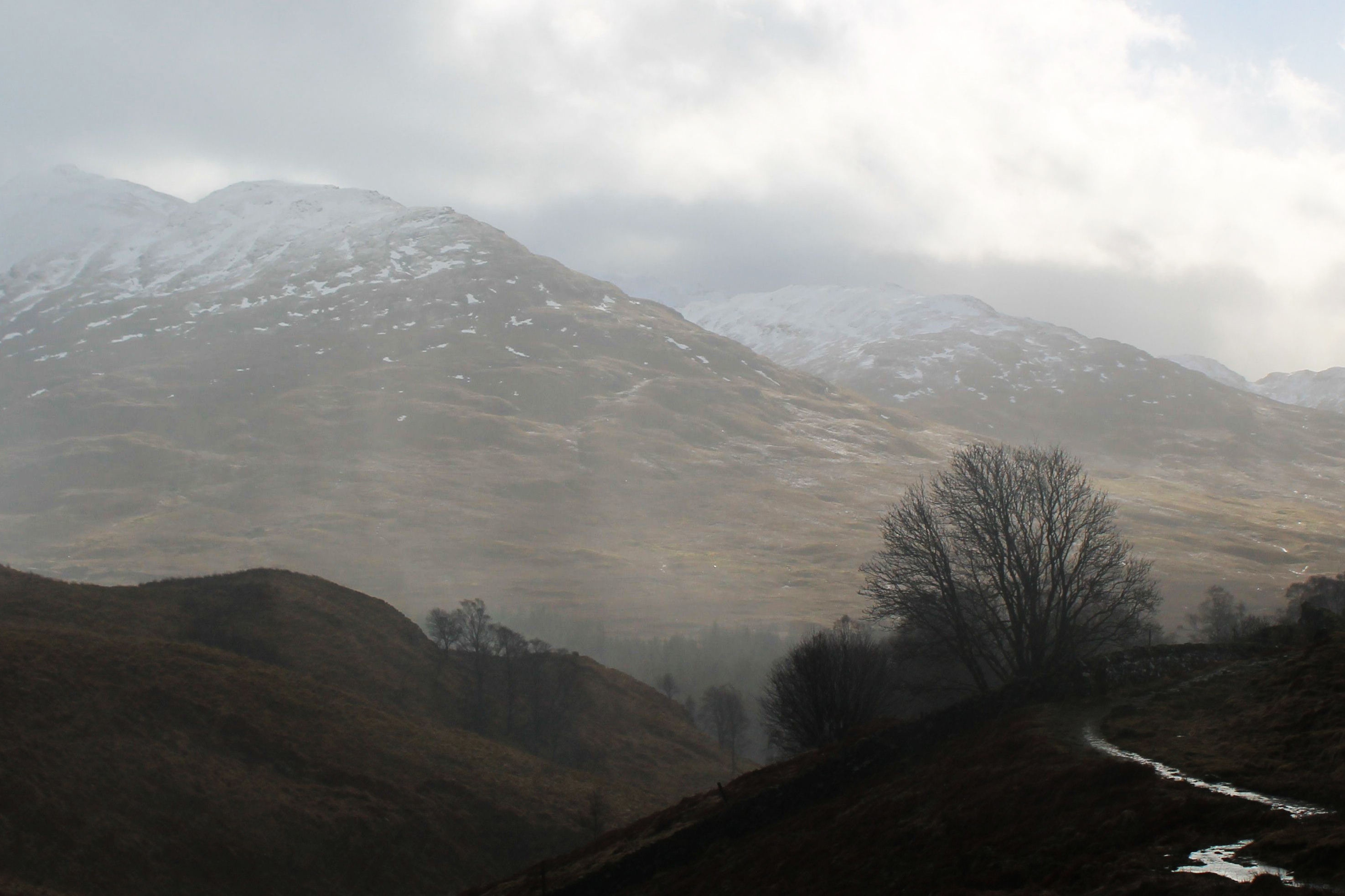 An Caisteal from the West Highland Way in Glen Fallon