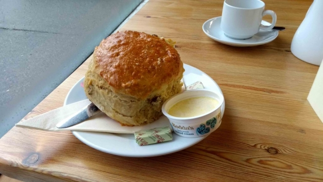 Giant scone at Moel Siabod cafe