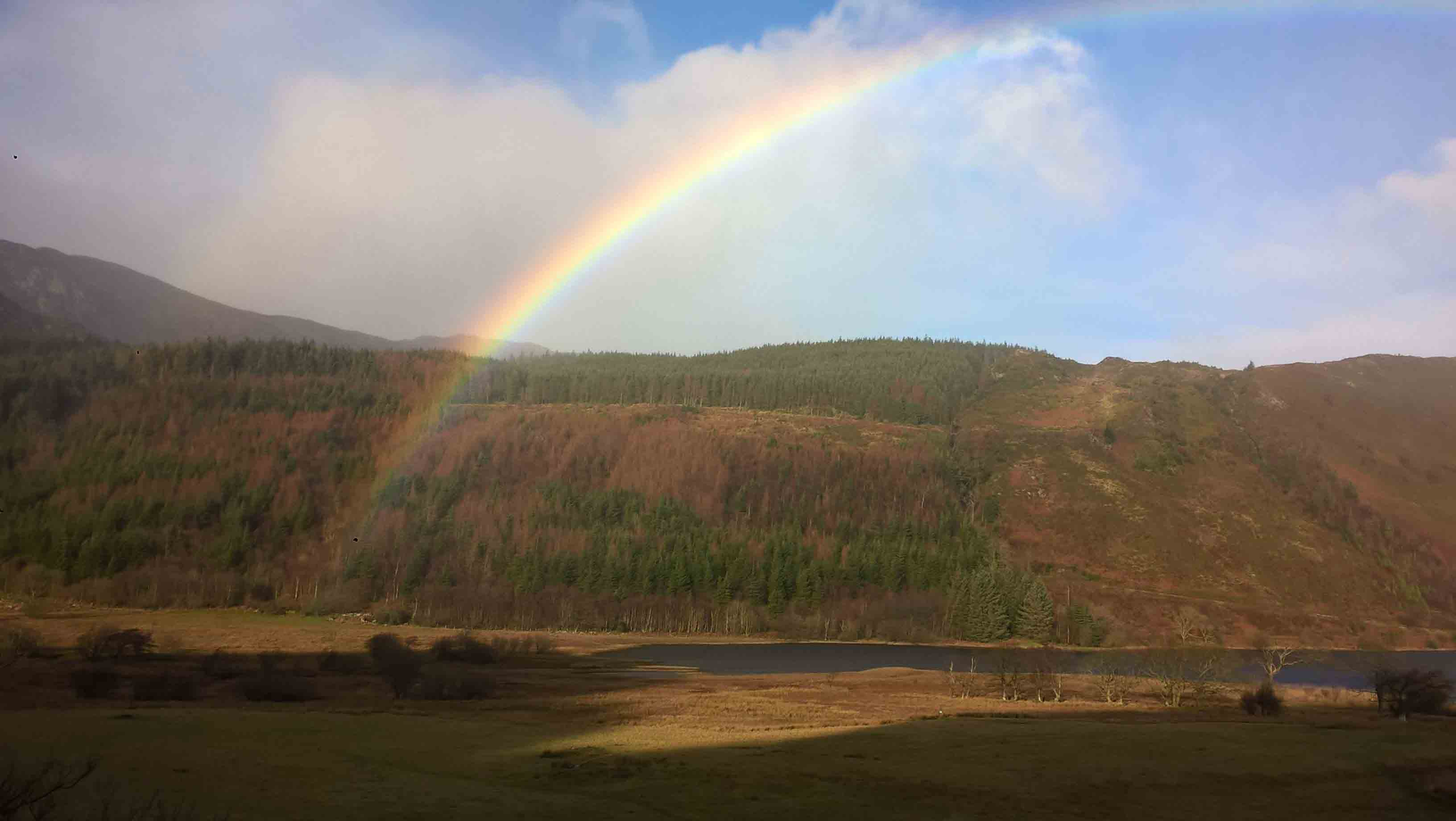 Rainbow above Llyn Crafnant