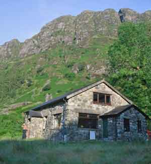 a mountain hut