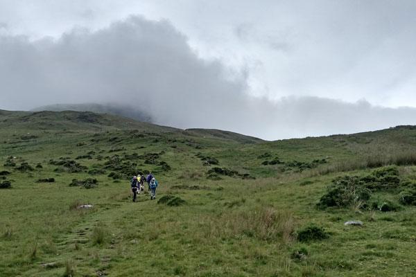 walkers on moorland